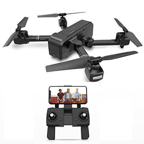 JHSHENGSHI Drone con Telecamera GPS Senza spazzole 4K Drone con Fotocamera Borsa 5G WiFi FPV...