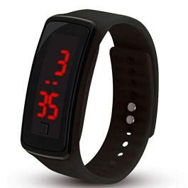 Bambini di orologio da polso digitale touch screen LED Bracciale Fascia di Orologio per bambini, nastro a Orologio Sportivo da Polso Orologio Orologio Nero