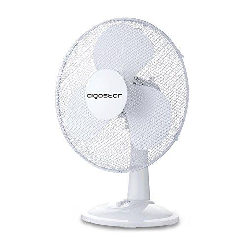 Aigostar Allace 33JTO - Ventilatore da tavolo, silenzioso, 3 impostazioni di velocità, 40 Watt,...