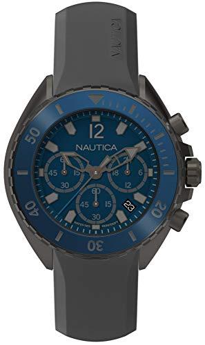Nautica Orologio Cronografo Quarzo Uomo con Cinturino in Silicone NAPNWP003