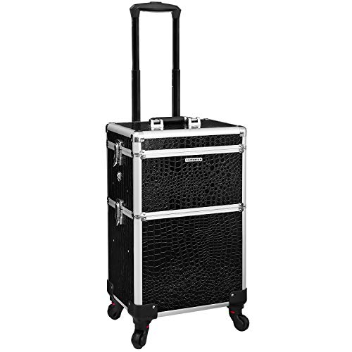 Songmics Trolley Make up Beauty Case Nail Art Valigia Cofanetto Porta gioie smalti oggetti JHZ03B