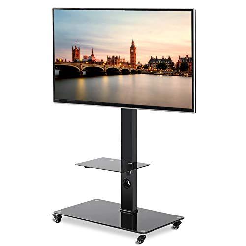 RFIVER Mobile TV da Pavimento con Ruote Carrello TV Supporto per 37-70 pollici LED LCD OLED Plasma e...