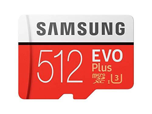 Samsung Memorie MB-MC512GA EVO Plus Scheda microSD da 512 GB, UHS-I U3, con Adattatore SD