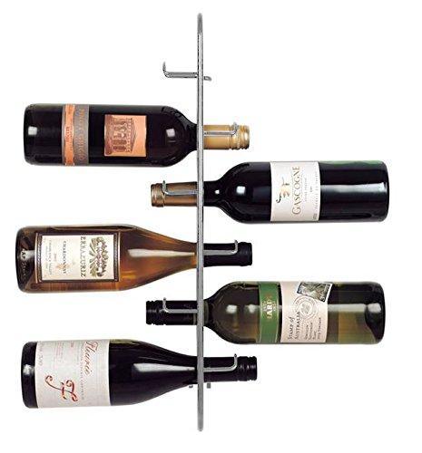 JWP Ltd Navarra 6 Bottiglie di Vino Rack, Argento, silver, metallo
