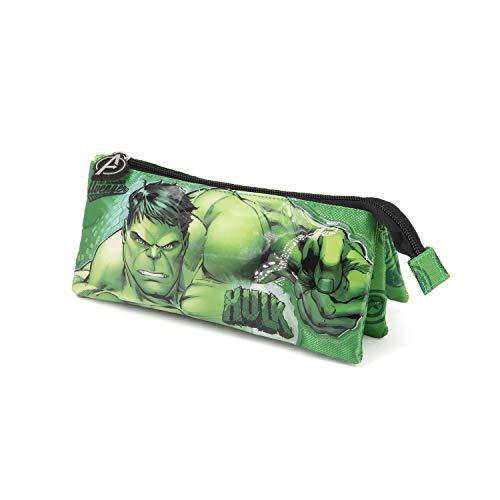 Karactermania Hulk Rage-Dreifach Federmäppchen Astuccio, 23 cm, Verde (Green)