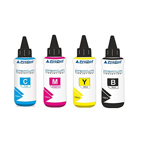 Prodot HP Compatible MultiColor Ink for HP Inkjet Cartridge No. 22, 46, 57, 678, 680, 703, 704, 802, 803, 818 (Set of- 4 Cyan,Magenta,Yellow Black)