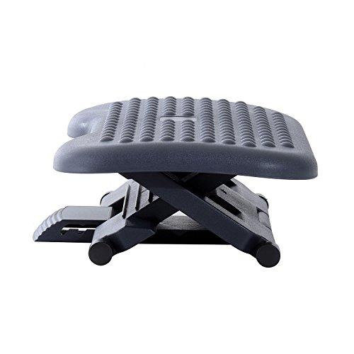 Homcom® Homcom Fußstütze Fussstütze Fußablage Relax Fuß Stütze für Büro, höhenverstellbar, Kunststoff, schwarz, 46x35cm