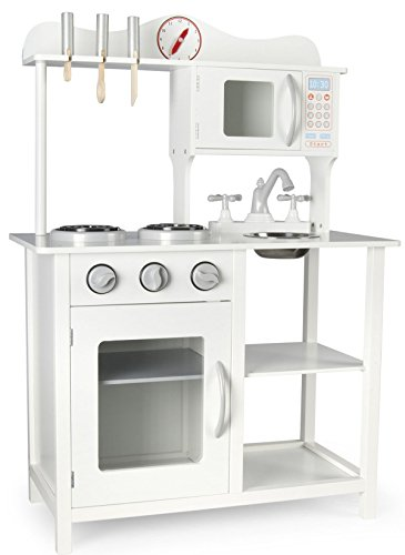 Cucina Leomark White Classic Classica Bianca Cucina Giocattolo per Bambini Gioco in Legno Giocare...