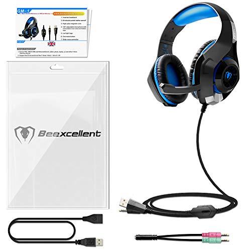 Beexcellent GM-1 - Auriculares Gaming para PS4 PC, Cascos Ruido Reducción...
