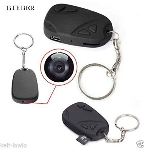 Krazzy Collection BieBer Top 808 #26 1080P KeyChain HD RC Mini Action Cam DVR H.264 POV Video Recorder (Loop Recording, Driver Recording) With Charger