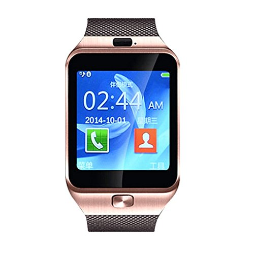 Insasta DZ09 Smart Watch Phone For Android iOS Bluetooth, Camera, SIM Card & Memory Slot (Brown)