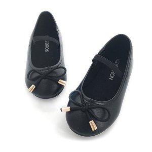 Bear Mall Ballet Flats for Girls Slip-on School Uniform Dress Shoes (Little Kids/Toddler Girls) 41ShxNIPX2L