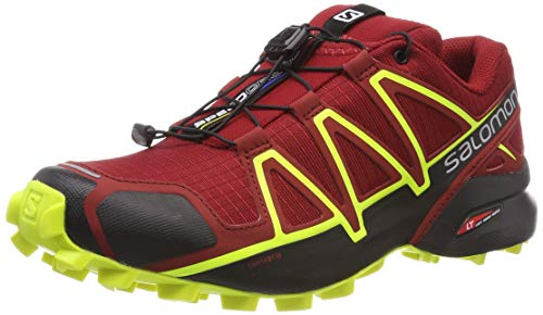 Salomon Speedcross 4, Zapatillas de Running para Hombre, Rojo (Red Dahlia/Black/Safety Yellow), 45 1/3 EU