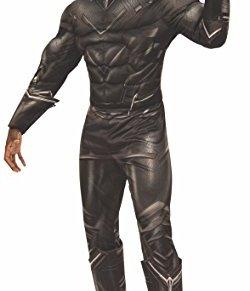 Rubies Disfraz oficial de Marvel de la Pantera Negra, color negro, modelo para adultos, tamaño XL