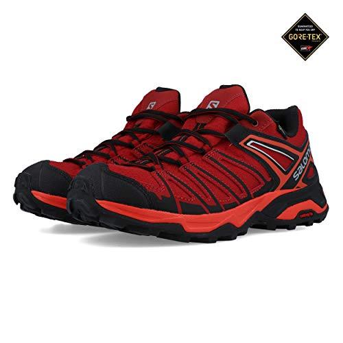 Salomon X Ultra 3 Prime GTX, Zapatillas de Senderismo para Hombre, Rojo (Red Dalhia/Fiery Red/Vapor Blue 000), 42 EU