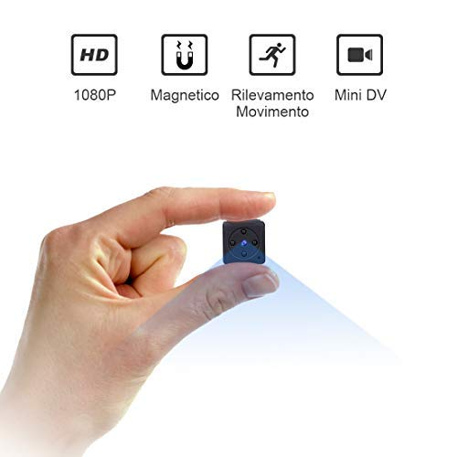 Mini Telecamera Spia Nascosta,NIYPS Full HD 1080P Portatile Micro Spy Cam Sorveglianza con Visione...