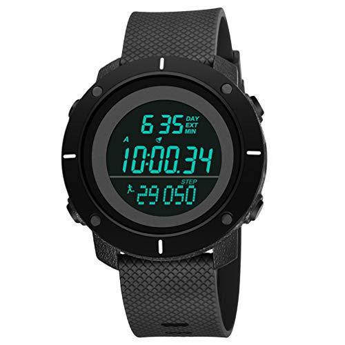 Hemobllo Orologio Sportivo Digitale Cronometro Impermeabile Orologi Militari da Esterno con Calendario Cronografo Conto Alla Rovescia per Uomo