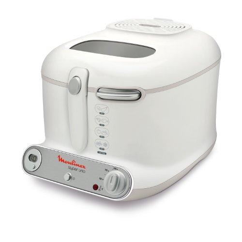 Moulinex AM3021 Super Uno Friggitrice con Filtro Anti-Odore, Fino a 190°, Capacità fino a 1.5 Kg