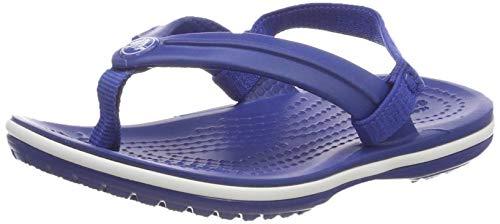 Crocs Crocband Strap Flip Kids, Scarpe da Spiaggia e Piscina Unisex-Bambini, Blu (Blue Jeans 000),...
