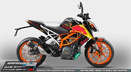 Ktm Duke 250-390 Decal - Wrap - Redbull Body Kit wrapandride ®
