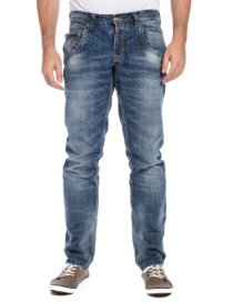 Timezone-Herren-HaroldTZ-Rough-Jeans-Blau-Midwest-wash-3627-W34L32-Herstellergre-3432