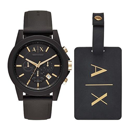 Armani Exchange Orologio Cronografo Quarzo Uomo con Cinturino in Silicone AX7105