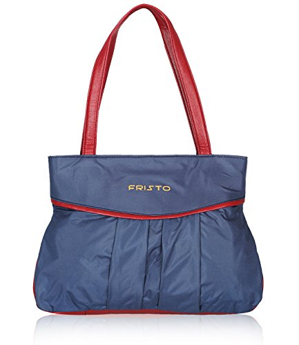 Fristo Women's Handbag (Blue and Maroon)