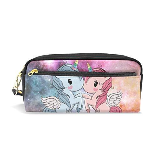Couple Cartoon Unicorn Love Nebulae Galaxy, astucci per ragazze e ragazzi, astuccio per cancelleria...