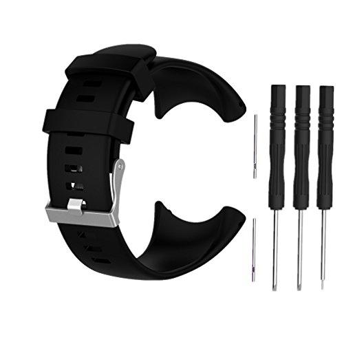 Cinturino di Ricambio per Suunto Core All Black, Meiruo Braccialetto per Suunto Core All Black (Nero)