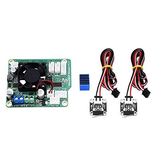 XZANTE Scheda di espansione V1.1 Shield NanoDLP 9-28 V con finecorsa di fine Corsa per Stampante 3D Raspberry Pi 3B fotopolimerizzabile