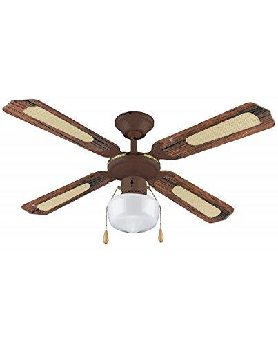 VINCO Ventilatore da soffitto art. 70919 3 velocità 4 pale 1 luce Invertitore di rotazione...