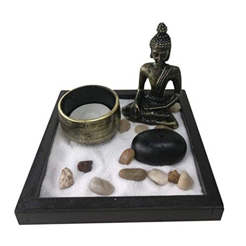 MagiDeal Zen Giardino Buddista Candela Luci Titolare Incensiere Incenso Portaincenso Soprammobili...
