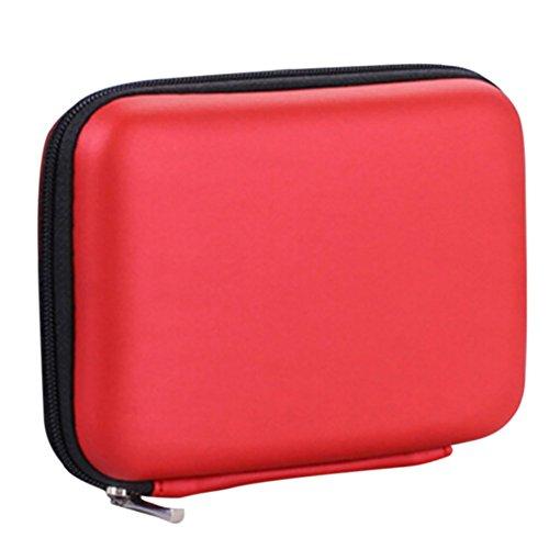 Leisial Astuccio portatile antiurto per hard disk da 2,5' caricabatterie portatile per prodotti...