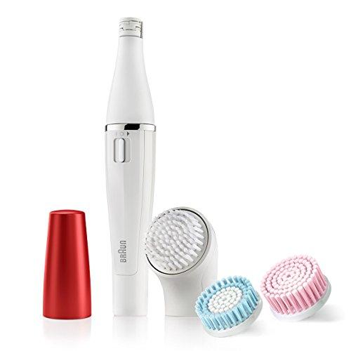 Braun Face 852 Edición Rubí - Cepillo de limpieza facial eléctrico y depiladora facial, con 4 accesorios
