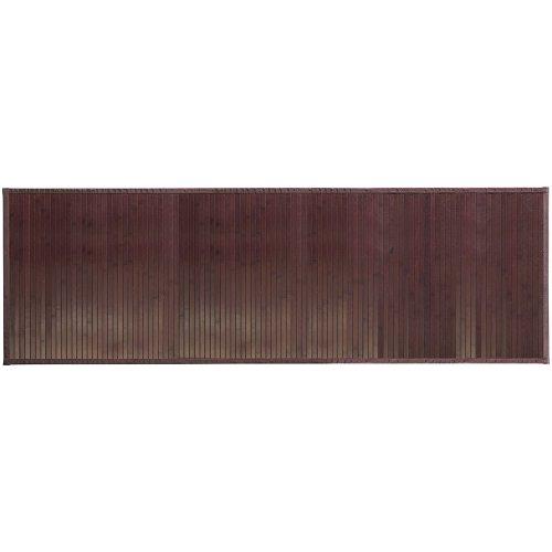 InterDesign Formbu Bamboo Tappetino Bagno Antiscivolo in Bambù, Marrone, 61 x 183 cm