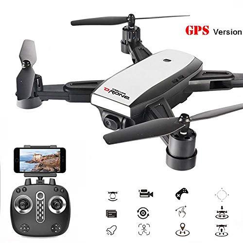 LM Drone Drones et caméras WiFi Quadcopter et 1080P caméra vidéo en Direct Hauteur Pliable Garder Mode sans tête GPS Retour Automatique 4
