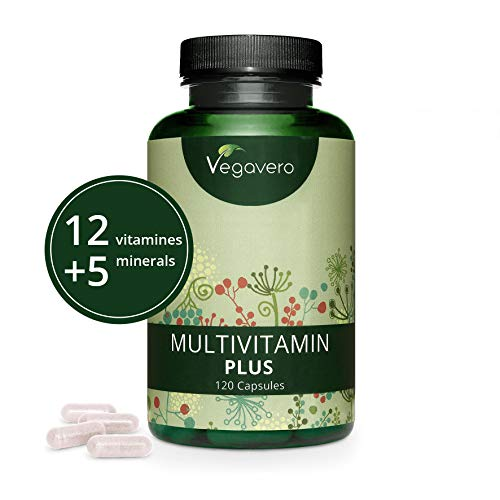 MULTIVITAMINICO e MULTIMINERALE Vegavero | COMPLETO: 12 vitamine e 5 minerali | 120 capsule | SENZA ADDITIVI artificiali | Vegan