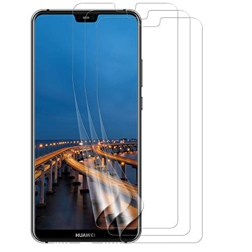 VICKSONGS Pellicola Protettiva per Huawei P20 Lite, [3 Pezzi] Pellicola Morbida in Pet [Anti-Graffio] [Alta Definizione] [Senza Bolle] Proteggi Schermo Film per Huawei P20 Lite - Non Vetro Temperato