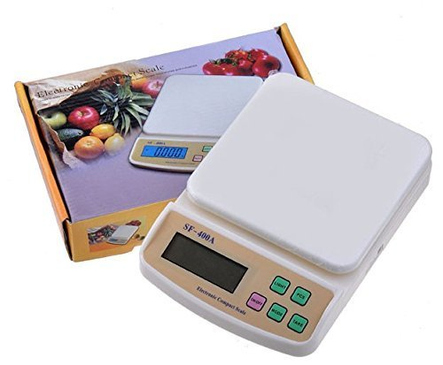 HP DEALS ABS Electronic Digital Kitchen Weighing Scale, 10 Kg, White