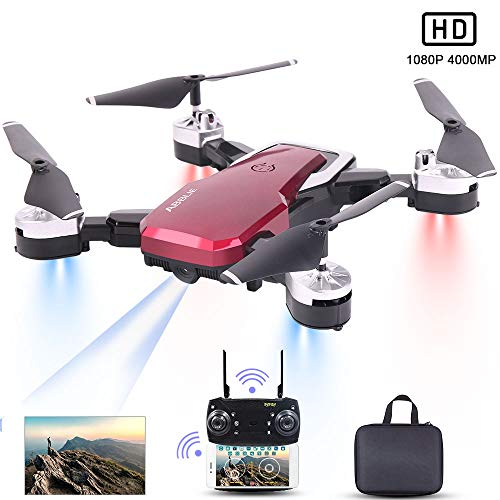 Drone con Telecamera, Mini Drone con 4K 1080P HD FPV Wi-Fi per Video, Headless Mode/Manutenzione...