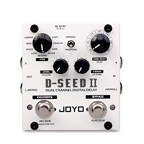 JOYO D-Seed II Stereo Delay Guitar Effect Pedal - 8 Modes Tap Tempo Memory