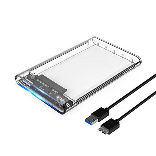 ORICO Case Esterno per Disco Rigido 2.5', USB 3.0 Enclosure Hard Disk Caso per 2.5 '' HDD SSD SATA...