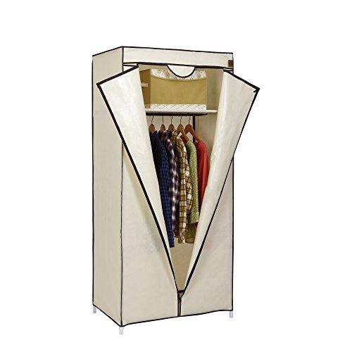 VonHaus - Armadio guardaroba singolo in tela per vestiti con barra appendiabiti e 1 ripiano,...