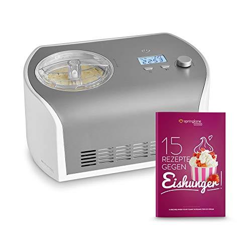 Gelatiera Elli con Compressore Autorefrigerante | 135W, 1.2L | Ice Cream Maker | Macchina per Gelato, Frozen Yogurt, Sorbetto