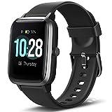 Letsfit Smartwatch Fitness Tracker 1,3 Zoll Voll Touchscreen Aktivitätstracker mit Pulsmesser Schlafmonitor Schrittzähler und Musiksteuerung, IP68 wasserdicht Sportuhr für Android und IOS Handy
