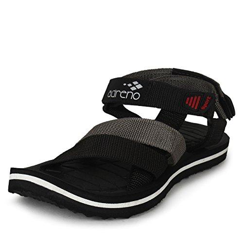 Adreno Men Black Synthetic Sandals & Floaters 8 UK