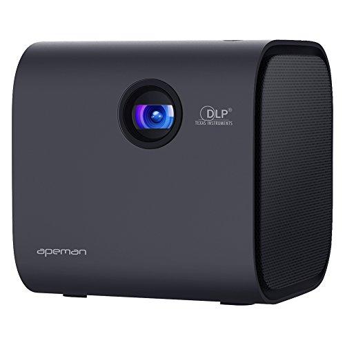 APEMAN Beamer Mini Beamer DLP Mit Bluetooth Lautsprecher 1080P Full HD Unterstützt LED Tragbarer Pocket Projektor Btterie Eingebauter 30000 Stunden Heimkino Party Mehrweg