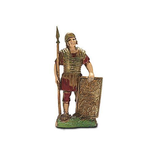 Moranduzzo Soldato Romano con Scudo, 6 cm, Multicolore