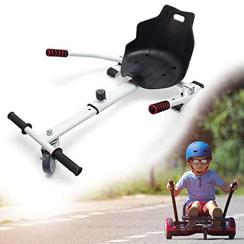 Wiltec Hoverseat Sedile per Hoverboard Scooter Elettrico autobilanciato Bianco