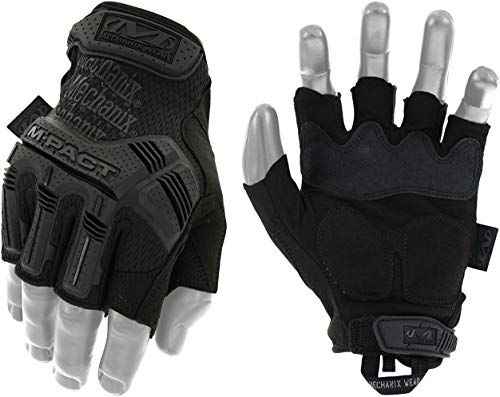 Mechanix Wear M-Pact, Guanti senza dita Covert Uomo, nero, M